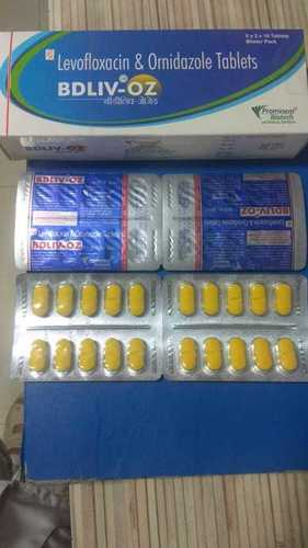 Levofloxacin 250 mg & Ornidazole 500 mg Tablet
