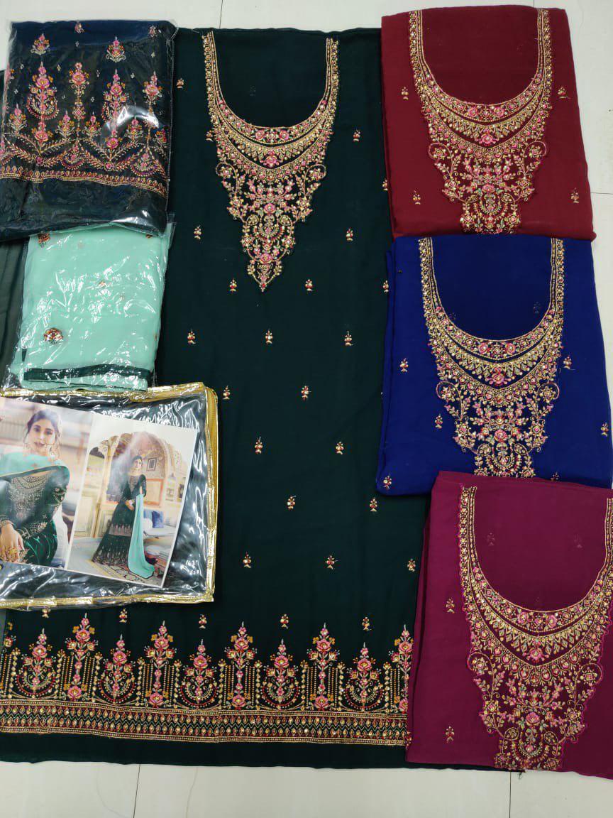 Embroidery Work Dupatta Online Salwar Suits