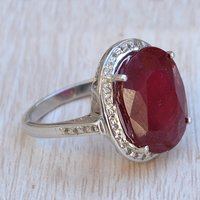 Jaipur Rajasthan India Ruby Gemstone 925 Sterling Silver Handmade Jewelry Manufacturer Ring Sz 7