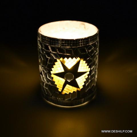 Mosaic Decor Home Purpose Candle Holder