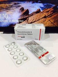 Aceclofenac  Thiocholchicoside  Tablets