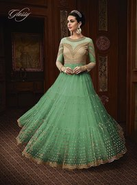 Party Wear Embroideried Anarkali Suit