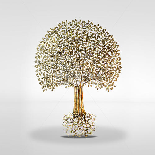 Bronze Tree of Life with Roots