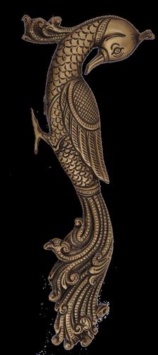 Peacock Door Handle