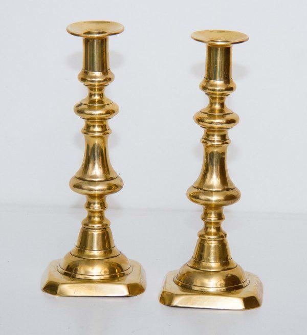 Large Golden Pillar Candle Holder