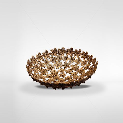 Brass Handcrafted Basket