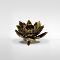 Brass Lotus Candle Stand