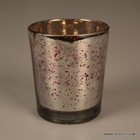 Silver Home Decor Candle Holder
