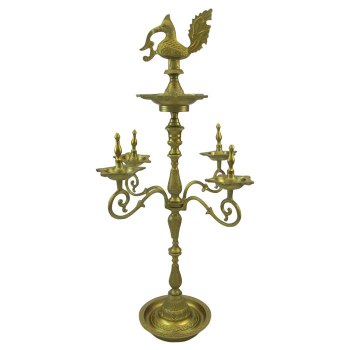 Aluminum Temple Oil Lamp