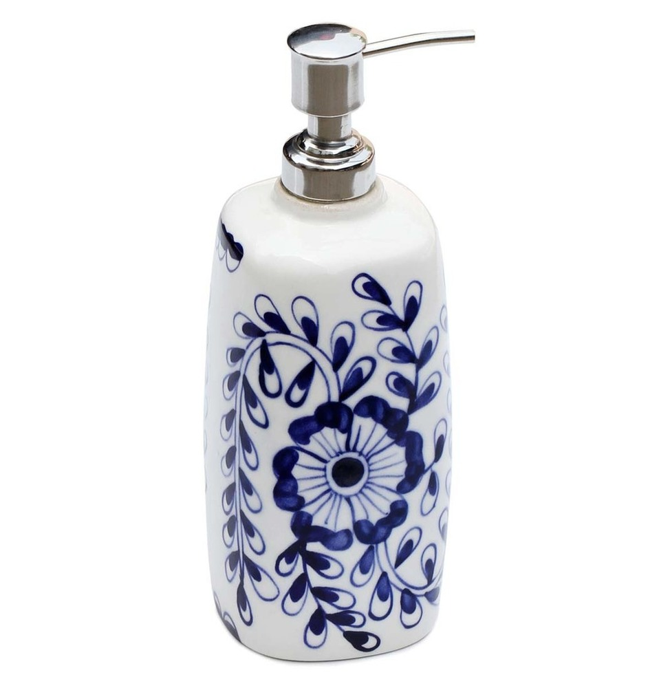 Ceramic Liquid Soap/Lotion Dispenser With Aluminium Pump