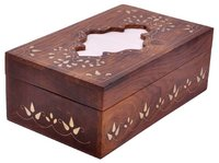 Wooden Rectangular Tissue Holder Box