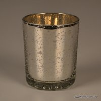 Silver Small T Light Candle Holder