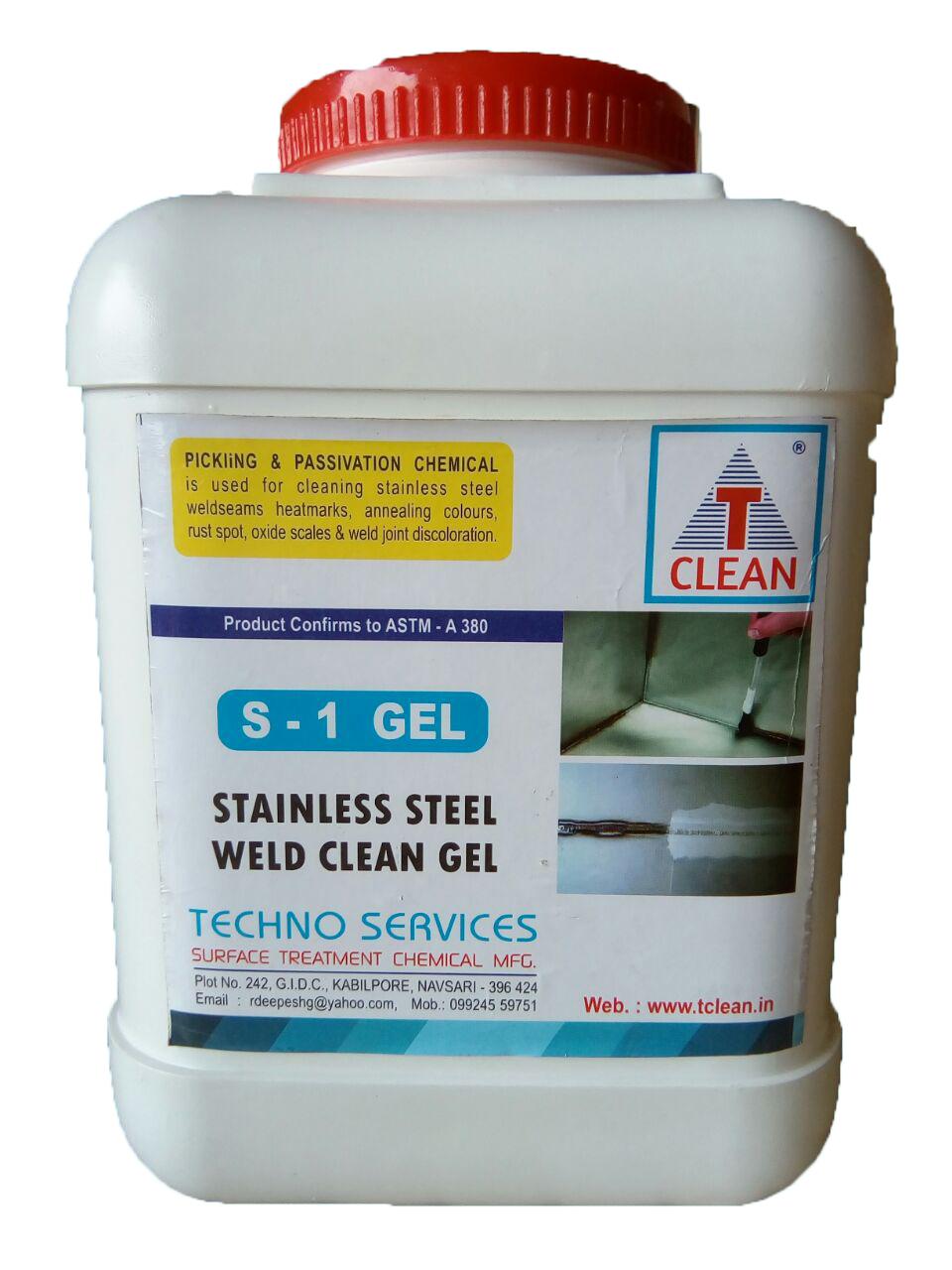 Stainless Steel Weld Clean Gel