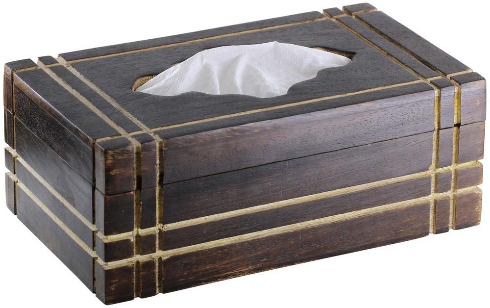 Rectangular Wooden Tissue Box