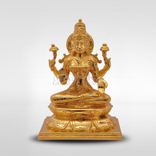 Bronze Lakshmi on Lotus Base