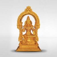 Gold Plated Lakshmi With Base