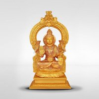 Gold Plated Lakshmi Statue