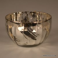 Antique Silver Glass Bowl