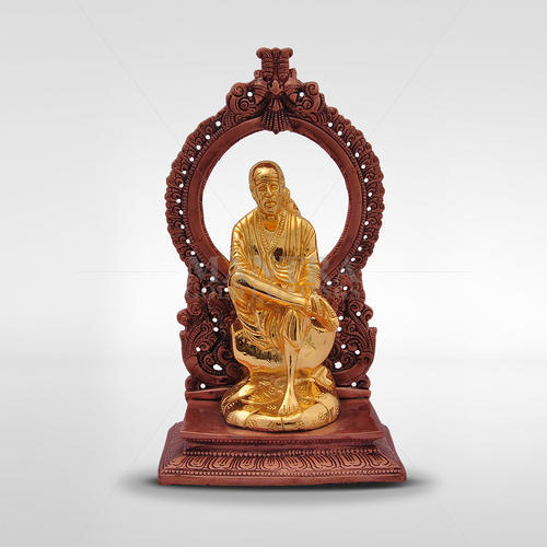 Gold Plated Sai Baba Statue