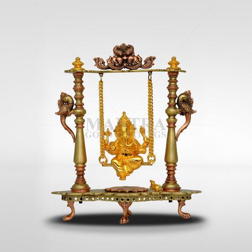 Brass Jhula Ganesha