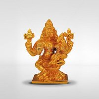 Gold Plated Lakshmi Narasimhar Idol