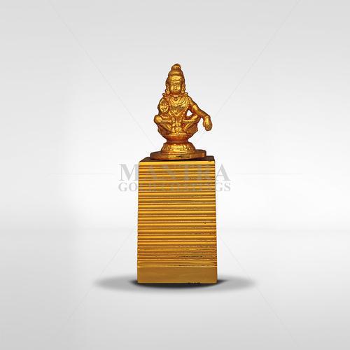 Gold Plated Ayyappan Statue