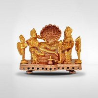 Gold Plated Vishnu With Lakshmi