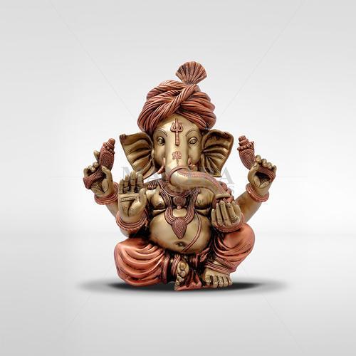 Gold Plated Pagadi Ganesha Statue