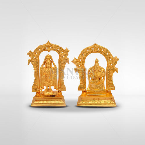 Gold Plated Tirupathi Venkatachalapathy with Thayar