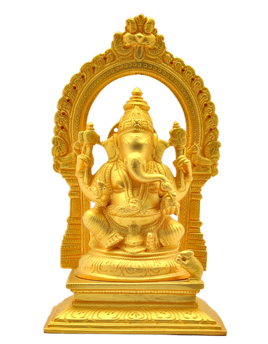 Ganesha with Arch Matt Gold