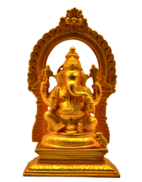 Ganesha with Arch Matt Gold