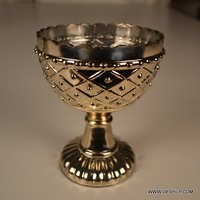 Silver T Light Cup Shape Candle Holder