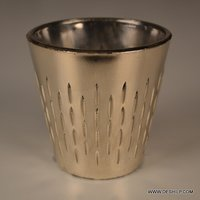 Glass Silver Finish T Light Candle