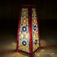 Mosaic Handicraft Glass Table Lamp