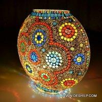 Purse Shape Glass Table Lamp