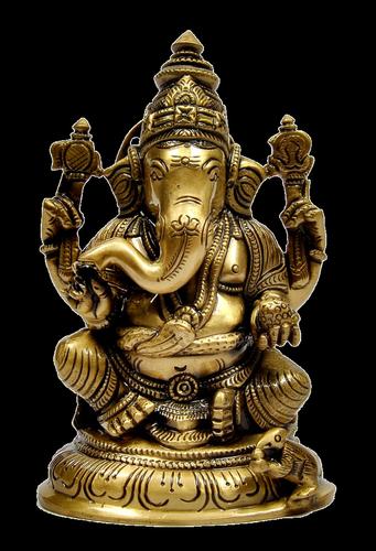 5 inch Ganesha Idol with Base