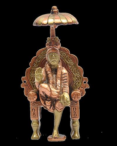 Sai Baba with Simhasanam 4 inch