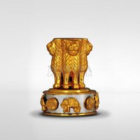 Gold Plated Ashoka Chakra