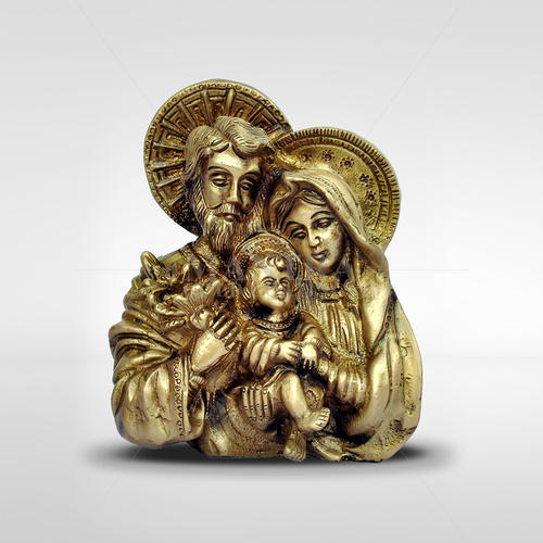 Brass Jesus Family In Hand