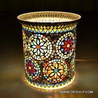 Beautiful Glass Dibba Table Lamp