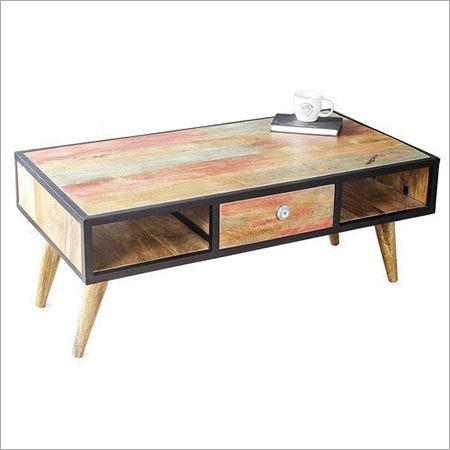 Hard Wood Tea & Coffee Table With Drawer