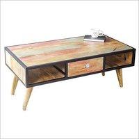 Hard Wood Tea & Coffee Table With Drawer