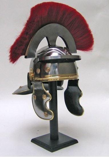 Roman Centurion Helmet with Red Plume