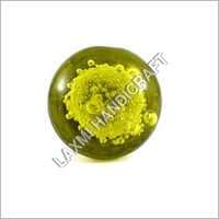 Green Bubble Glass Cabinet Knob