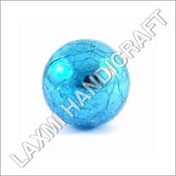 Sky Blue Crackle Glass Cabinet Knob