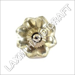 Flower Glass Cabinet Knob