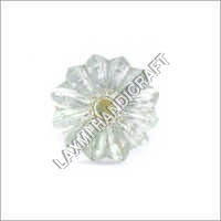 Flower Shape Glass Cabinet Knob