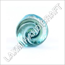 Blue Curved Glass Door Knob