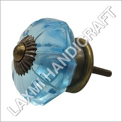 Blue Melon Antique Glass Door Knob