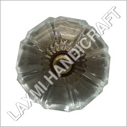 Clear Melon Antique Glass Door Knob